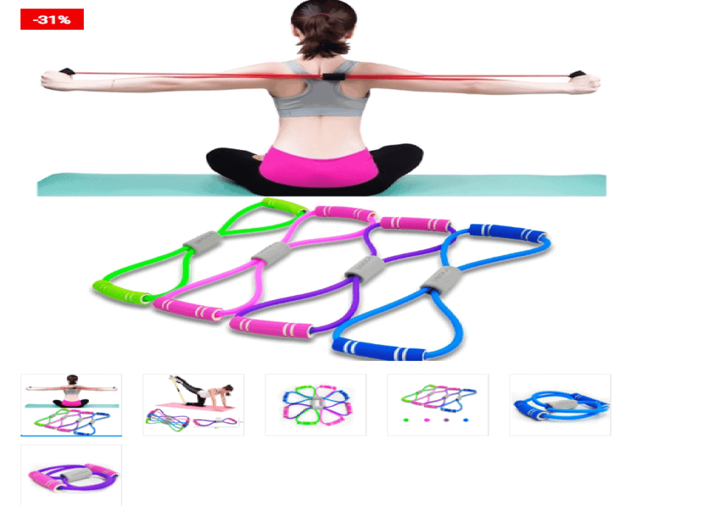 Workout Bands Elastic Rubber Rope