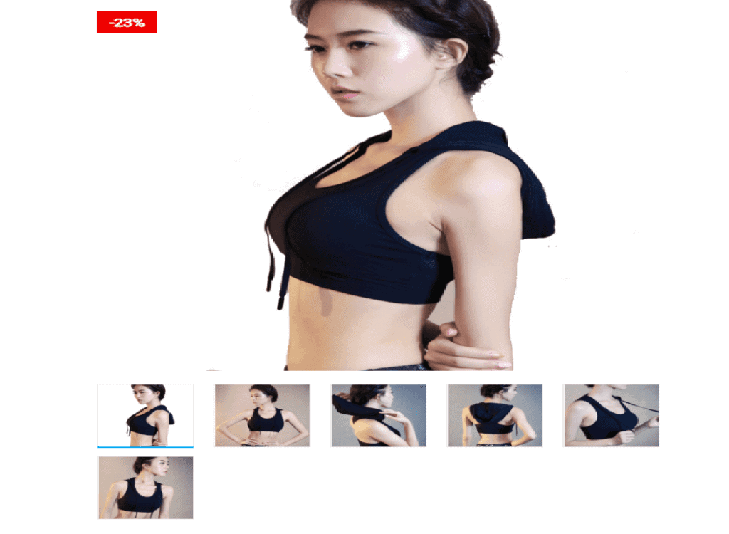 Women Sports Bra Crop Top With Drawstring Hoodie
